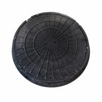 Люк круглый канализационный полимерно-песчаный  тип Л черный