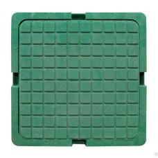 Люк квадратный канализационный полимерно-песчаный  тип Л зеленный