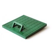 Крышка с ручкой пластиковая к водоприемнику зеленая 300*300 артикул 5369