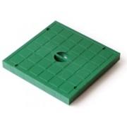 Крышка пластиковая к водоприемнику зеленая 400*400 артикул 5919