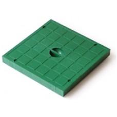Крышка пластиковая к водоприемнику зеленая 300*300 артикул 5918