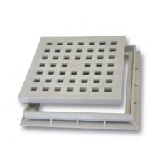 Решетка пластиковая к водоприемнику серая В-125 300*300 артикул 783