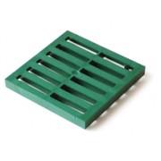 Решетка пластиковая к водоприемнику зеленая 300*300 артикул 914