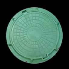 Люк круглый канализационный полимерно-песчаный  тип Л зеленый