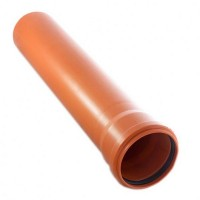 Труба KGEM для наружных работ диаметр 110 длина 1000