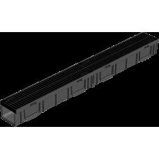 Комплект Gidrolica Light: лоток водоотводный ЛВ -10.11,5.9,5 - пластиковый с решеткой РВ- 10.11.50 пластиковой щелевой, кл. A15 артикул 0807