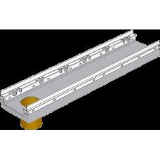 BGF-Z Мелкосидящий лоток DN150, с оцинкованной насадкой, с вертикальным водосливом, h 100, без уклона