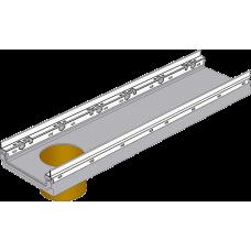 BGF-Z Мелкосидящий лоток DN200, с оцинкованной насадкой, с вертикальным водосливом, h 100, без уклона