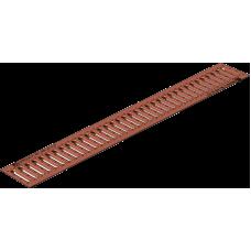 Решетка водоприемная РВ -10.13,6.100- штампованная медная  артикул 502