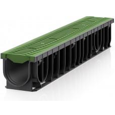 RECYFIX®PRO 100 с решеткой FIBRETEC цвет зеленый папоротник