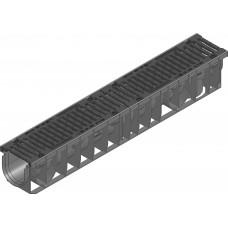 RECYFIX®NC100,классD400,тип01с чугунной решеткой,черной,SW 10мм,8 болтовое крепление