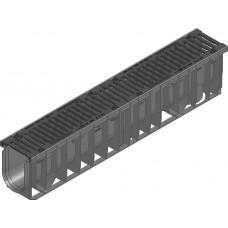 RECYFIX®NC100,классD400,тип010с чугунной решеткой,черной,SW 10мм,8 болтовое крепление