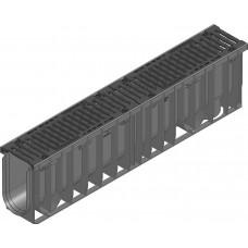 RECYFIX®NC100,классD400,тип020с чугунной решеткой,SW10, черн.,8 ми болтовое крепление