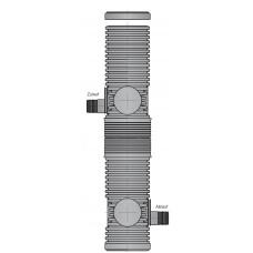 DRAINFIX®Системные шахты 300/1800** мм с фильтром с фильтрующим элементом, ПЭ крышкой, патрубки DN 200
