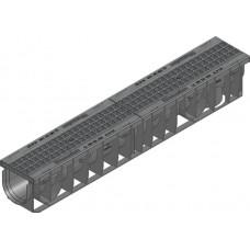 SPORTFIX®PRO 100, комбинированный артикул тип 01 с решеткой GUGI из PA-GF, MW 15/25, черная, в сборе