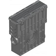SPORTFIX®BASEL Пескоуловитель NW 100 с решеткой GUGI , MW 15/25, черн., кл. B 125, в сборе