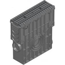SPORTFIX®BASEL Пескоуловитель NW 100 с корзиной для мусора, решеткой FIBRETEC , SW 9, черн., кл. C 250, в сборе