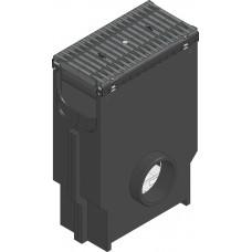 SPORTFIX®BASEL Пескоуловитель NW 200, с корзиной для мусора, решеткой FIBRETEC ,SW 9, черн., кл. В 125, в сборе