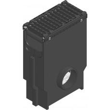 SPORTFIX®BASEL Пескоуловитель NW 200, с решеткой чугунной, SW 18, черн., кл. E 600, фиксация 4-я болтами