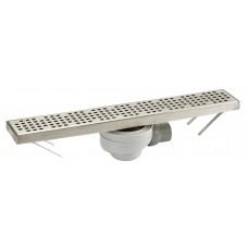 Дренажный канал для душа FLOORLINE: лоток и решетка из нерж.стали, Комплектуется сифоном TURBO (скорость слива воды 0,66л/сек.) артикул CS50S